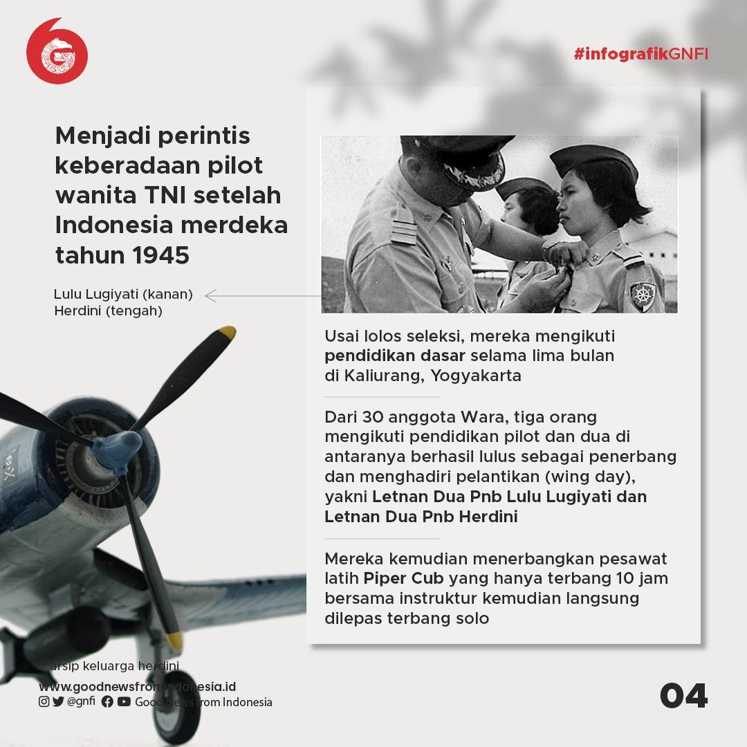 2 Perempuan Indonesia Pertama yang Jadi Penerbang Militer TNI AU