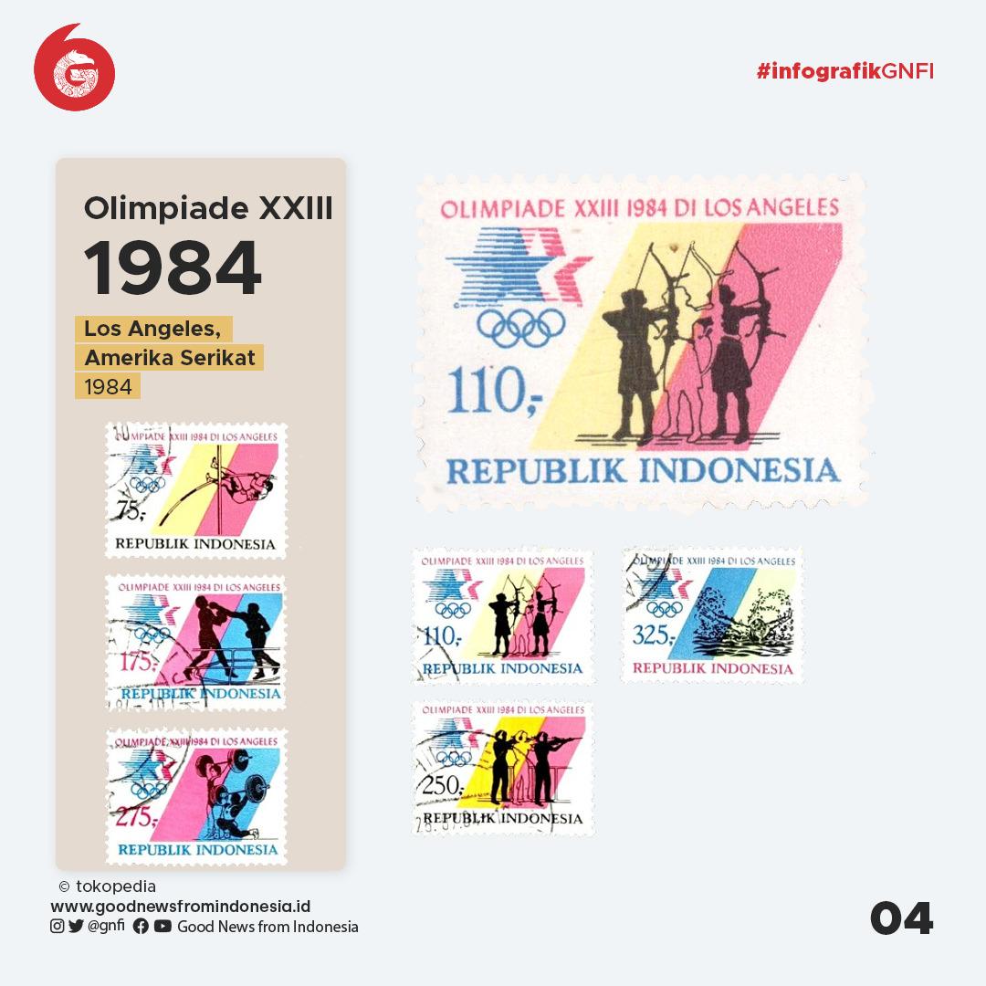 Jajaran Perangko Indonesia Edisi Olimpiade