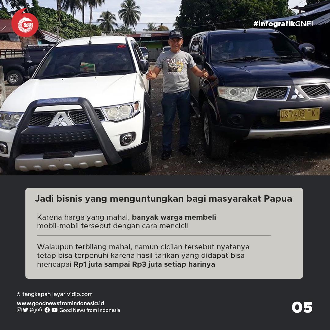 Kendaraan Mewah di Kota, Nyatanya 2 Mobil Ini Jadi Angkot di Papua