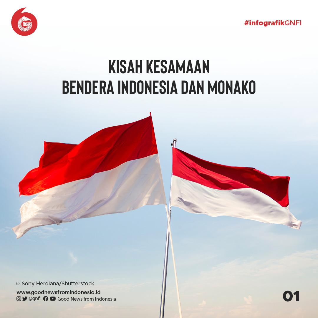 Kisah Kesamaan Bendera Indonesia dan Monako