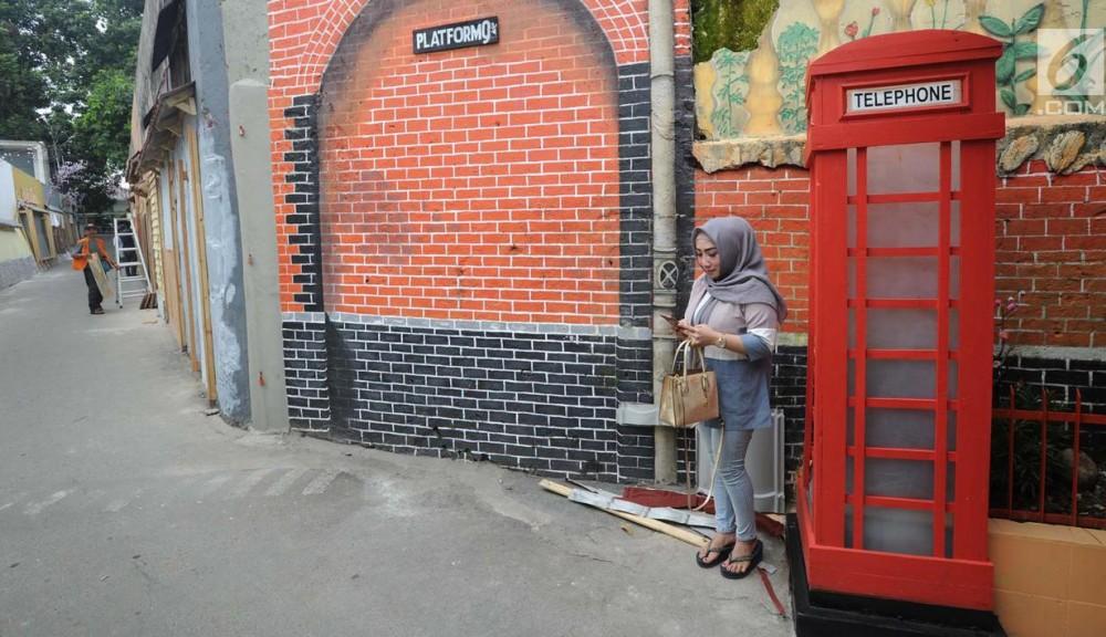 Berbeda Dengan Kampung Warna-Warni Lainnya, di Bogor Tengah Ada Kampung 4 Dimensi!