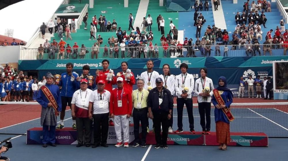 Setelah Puasa Medali Emas, Akhirnya Tim Tenis Indonesia Raih Emas Kembali di Asian Games 2018