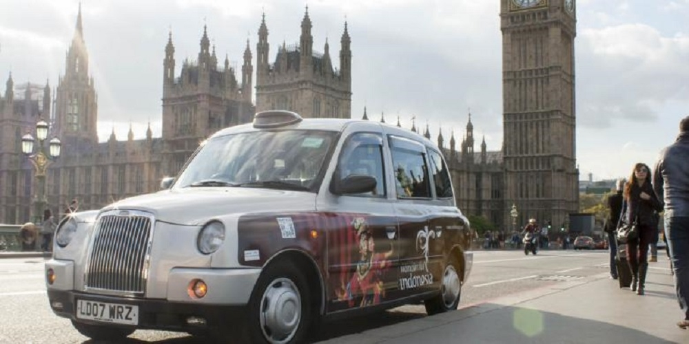 Ratusan Taksi Di London Promosikan Wisata Indonesia