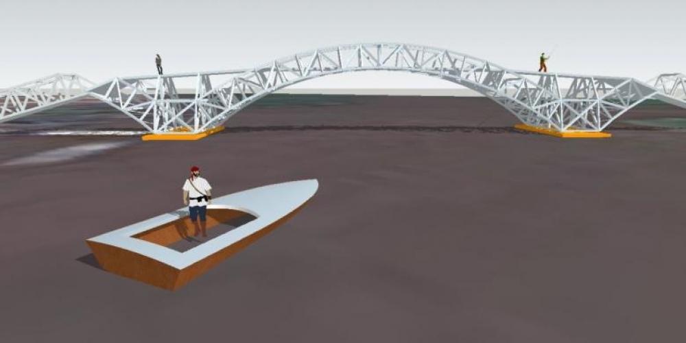 Kabupaten ini Menjadi Lokasi Pertama Jembatan Apung di Indonesia