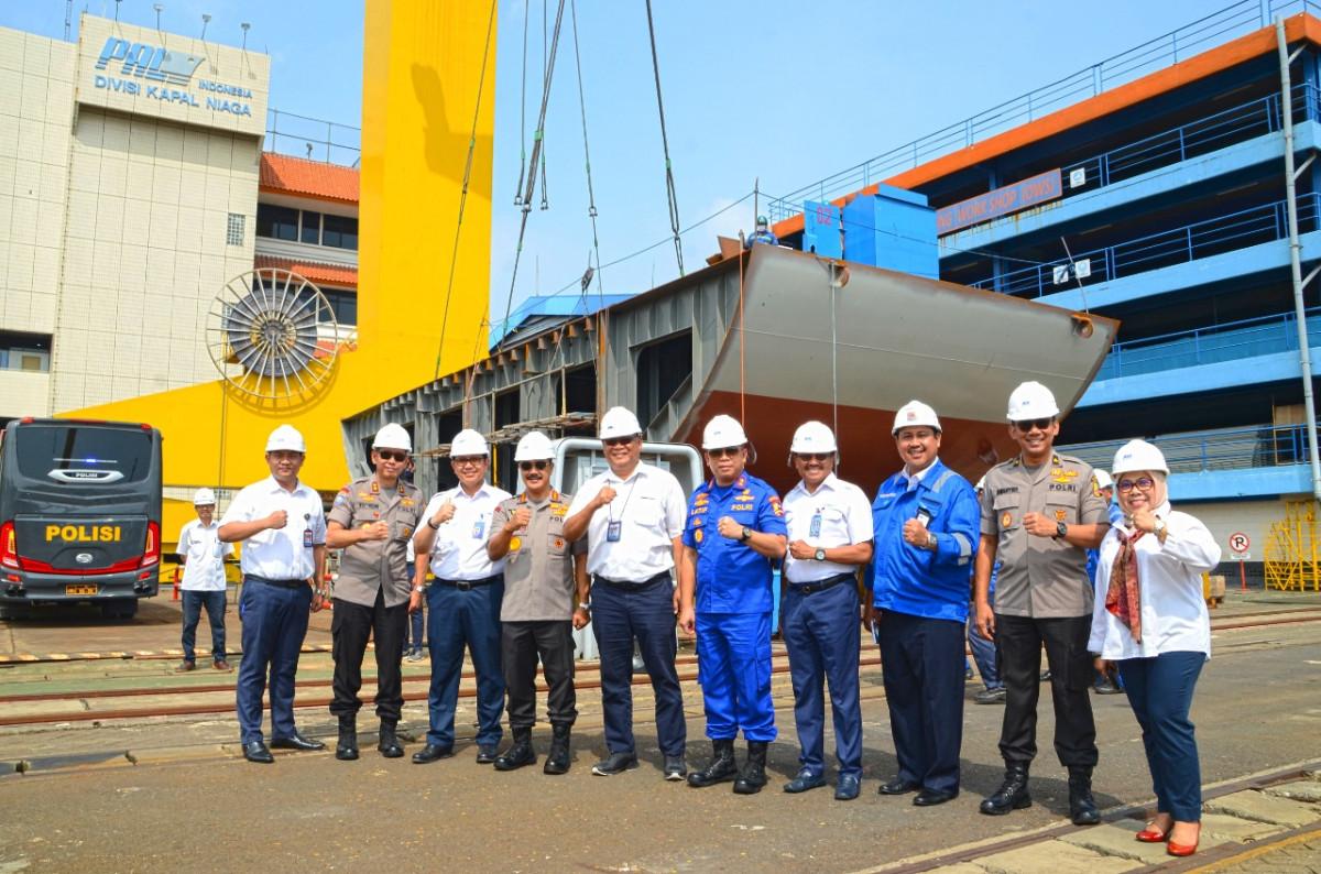 Sinergi Lembaga Pemerintah dengan BUMN, POLRI Siap Pesan Kapal Support dari PT PAL Indonsesia