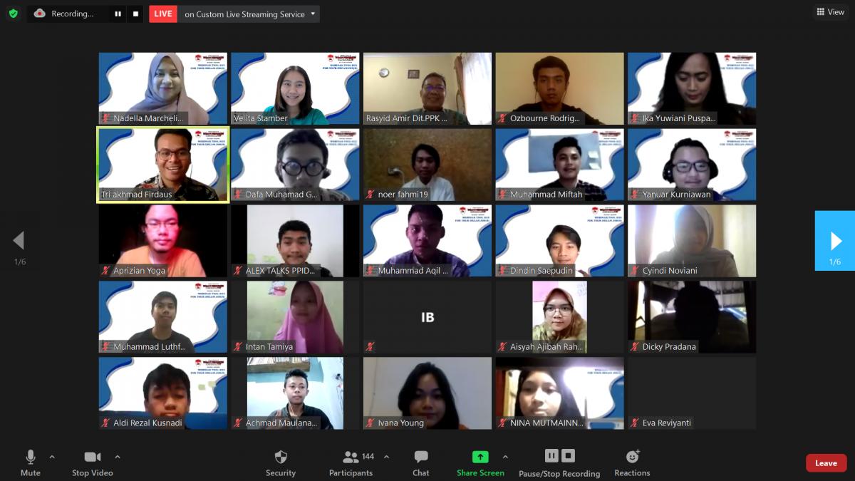 PPI Dunia Adakan Webinar Persiapan Dunia Kerja yang Sukses Menyita Perhatian Para Pelajar