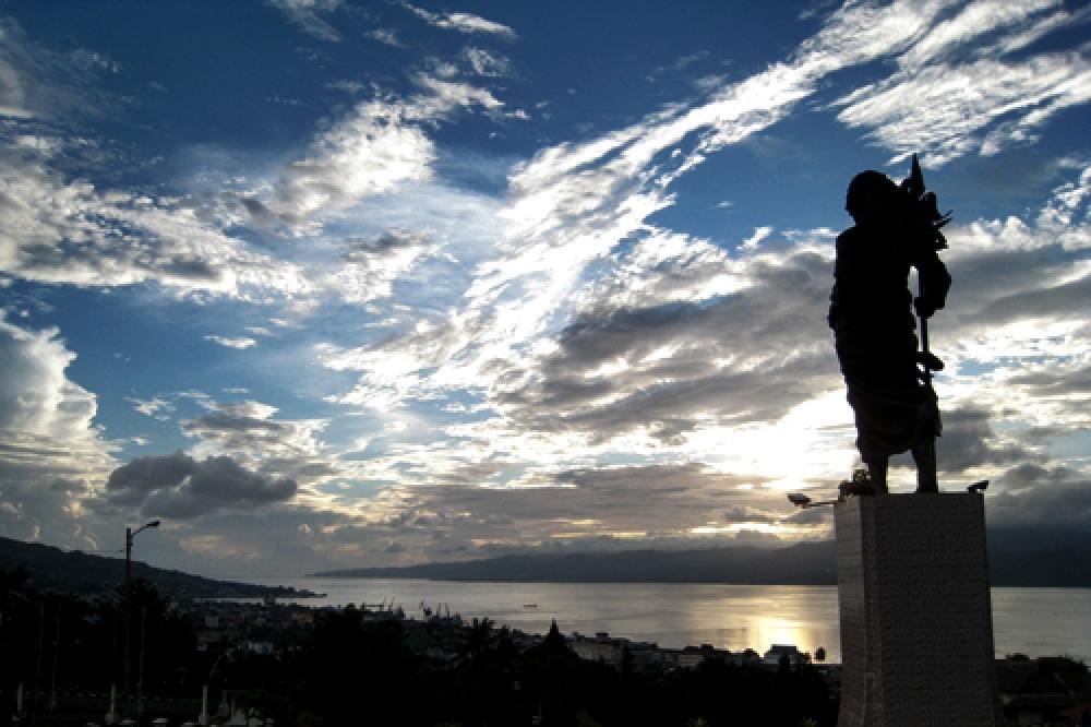 365Indonesia Day 31 - Statue of Christina Martha Tiahahu at Twilight in Karang Panjang, Maluku