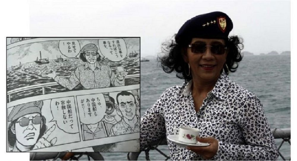 Gambaran Keberanian Menteri Susi dalam Komik Bikinan Jepang