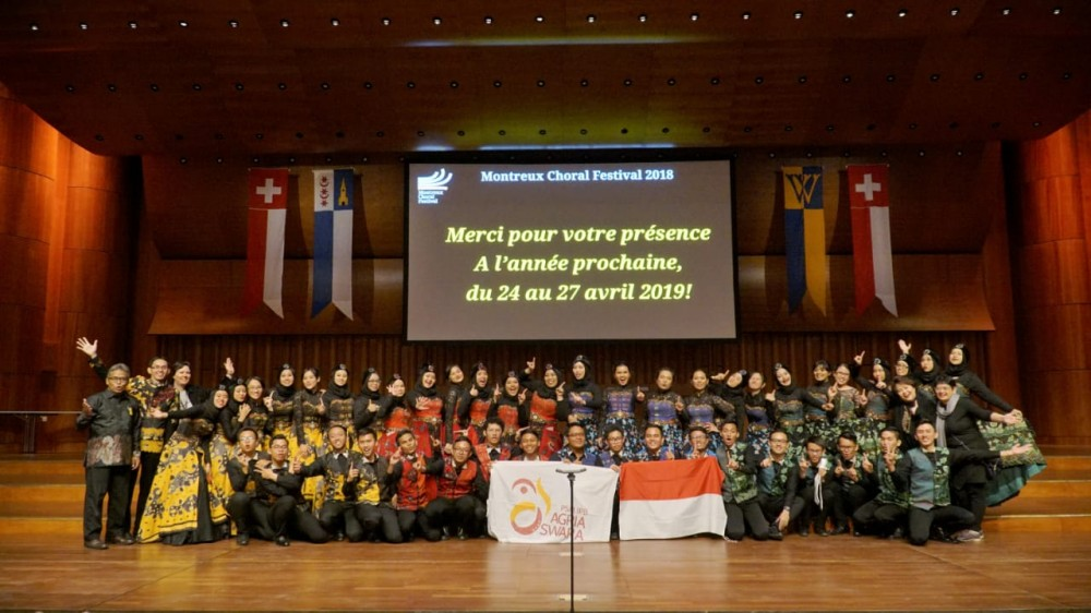 PSM IPB Agria Swara Raih Juara I Kategori Mixed Choir di Swiss