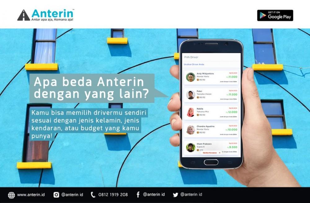 Anterin, Opsi Baru di Transportasi Daring Indonesia