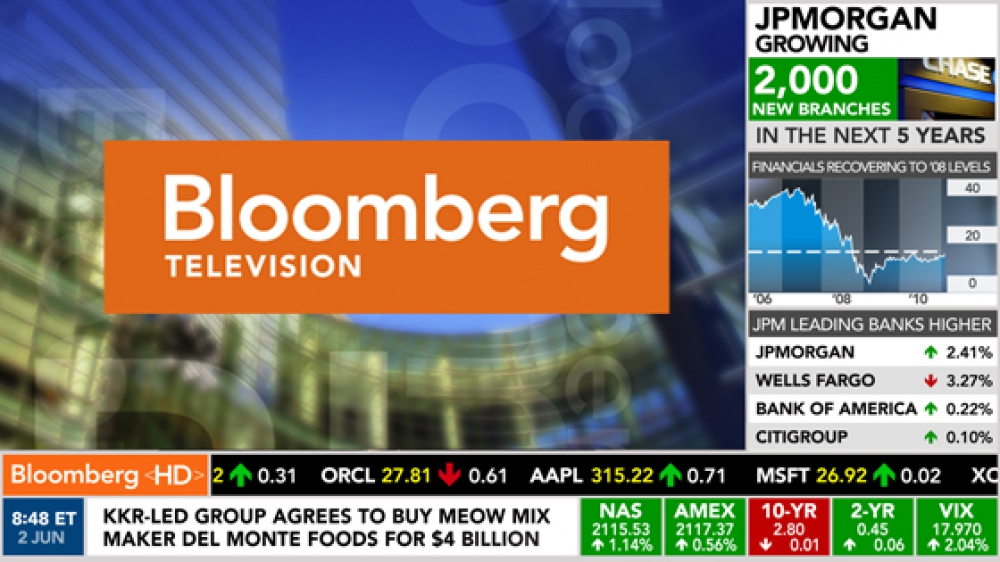 Bloomberg is here now