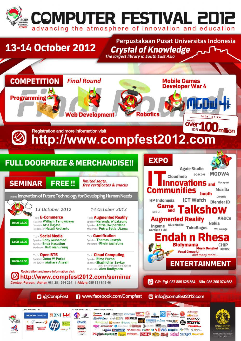 Computer Festival 2012, Bentuk Kontribusi Mahasiswa Fakultas Ilmu Komputer Universitas Indonesia untuk Bangsa