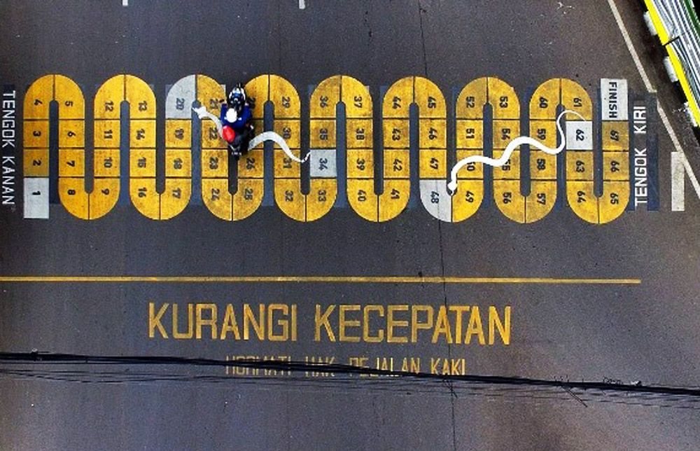 Di Bandung, Zebra Cross Disulap Jadi Unik