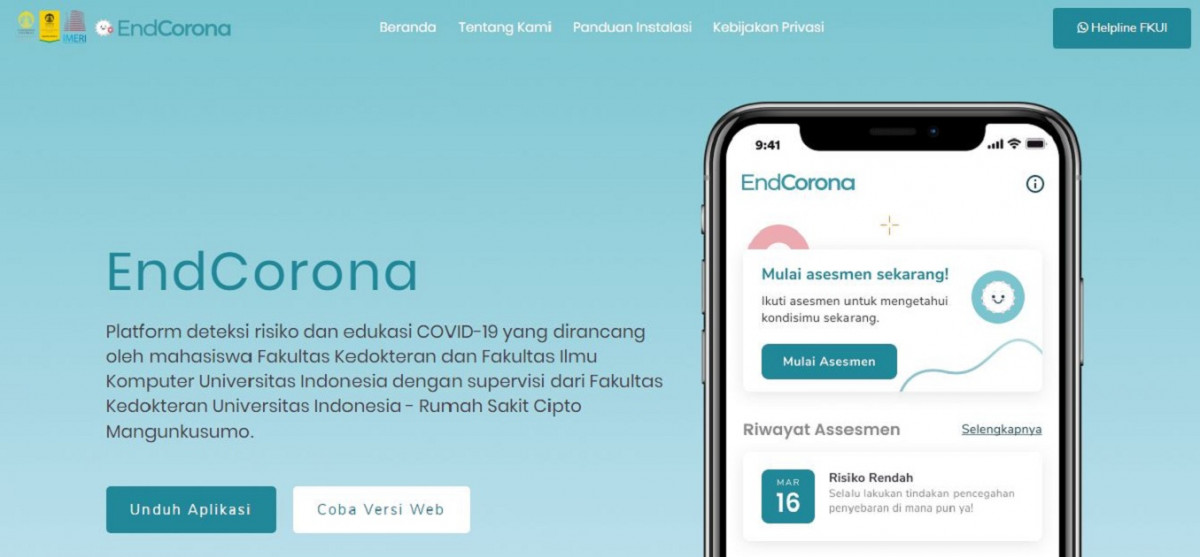Mahasiswa UI Ciptakan Aplikasi Pantau Virus Korona