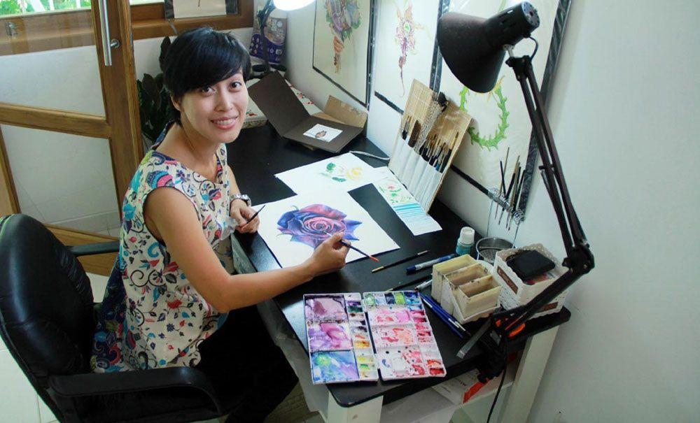 Eunike Nugroho, Pelukis Botani dengan Prestasi yang Mendunia