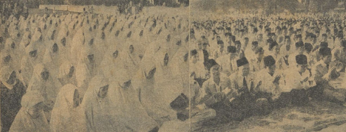 Sejarah Hari Ini (17 Juli 1950) - Berlebaran Bareng Sukarno-Hatta di Lapangan Banteng