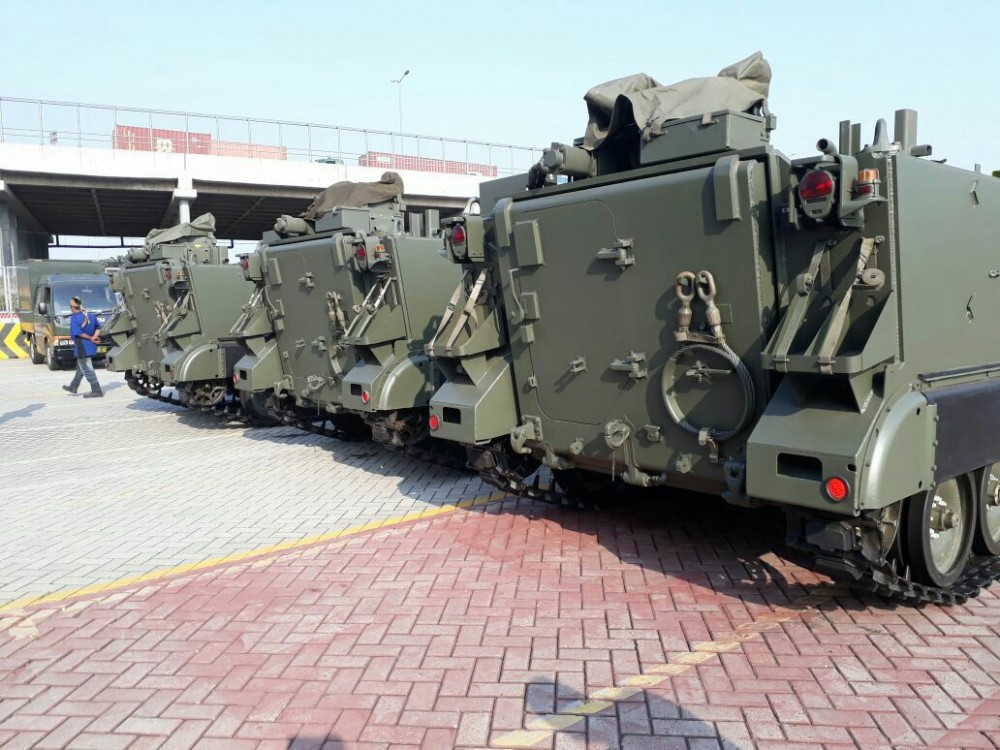 Kiriman Terakhir Sistem Artileri Canggih dari Belgia Tiba di Indonesia