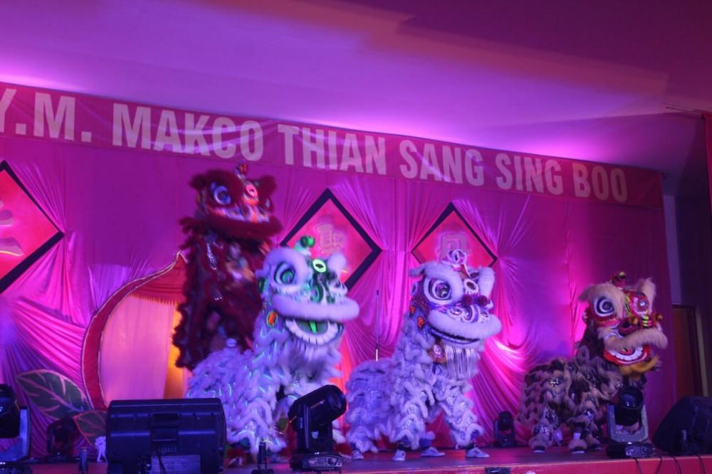 HUT Y.M. Makco Thian Sang Sing Boo Dimeriahkan Barongsai Dan Liang Liong