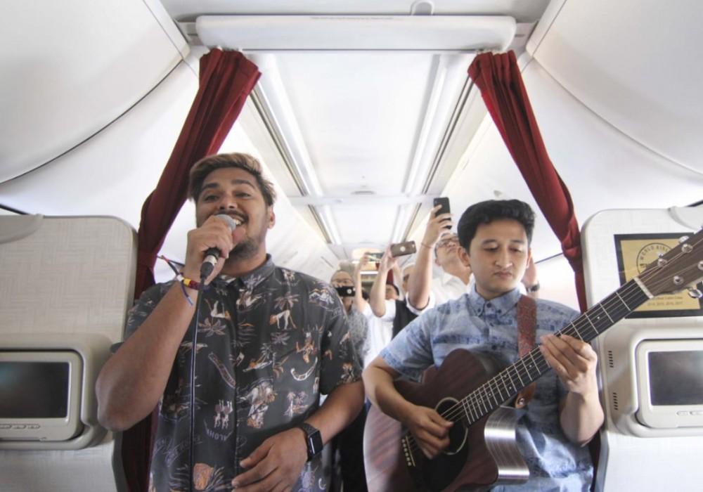 Live Music di Atas Ketinggian 35000 Kaki? Begini Garuda Indonesia Mewujudkannya
