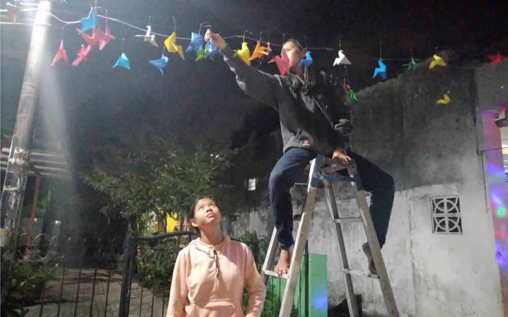 Kolaborasi Nuansa Hari Kemerdekaan RI dan Hari Jadi Kota Kediri di Kampung Mural
