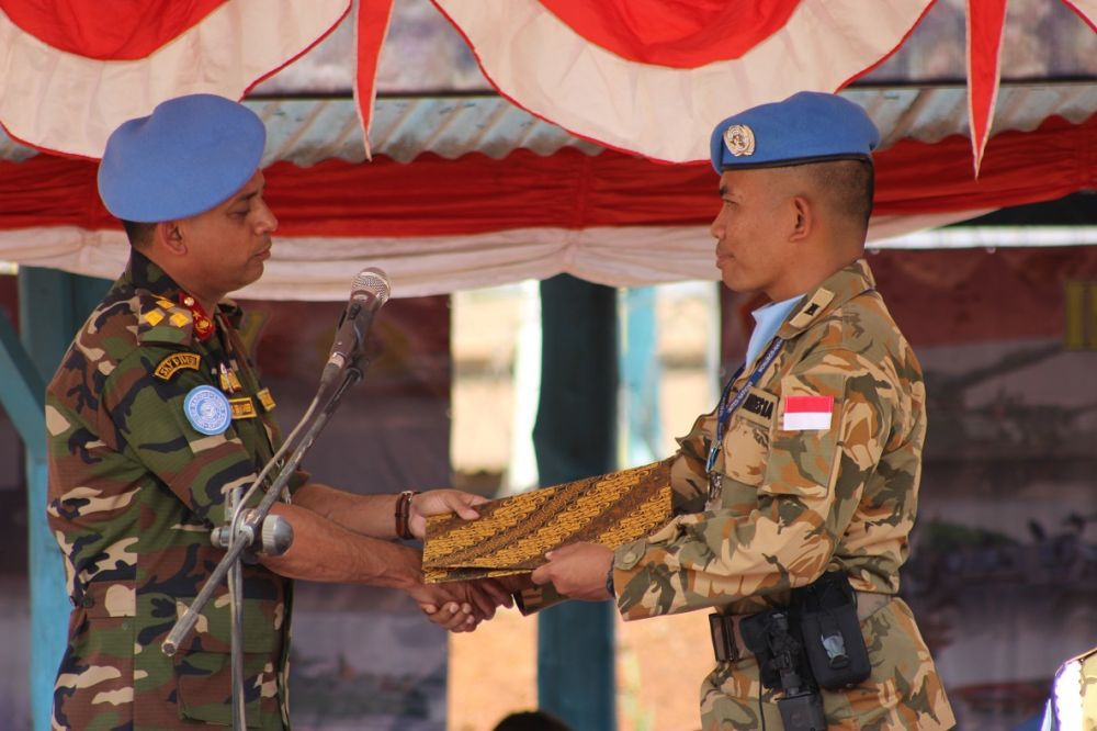 Pasukan Baret Biru Indonesia Tiba di Kongo