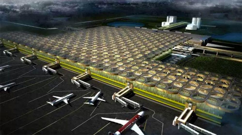 Dari Angkasa, Bandara ini Akan Terlihat Laksana Hamparan Batik
