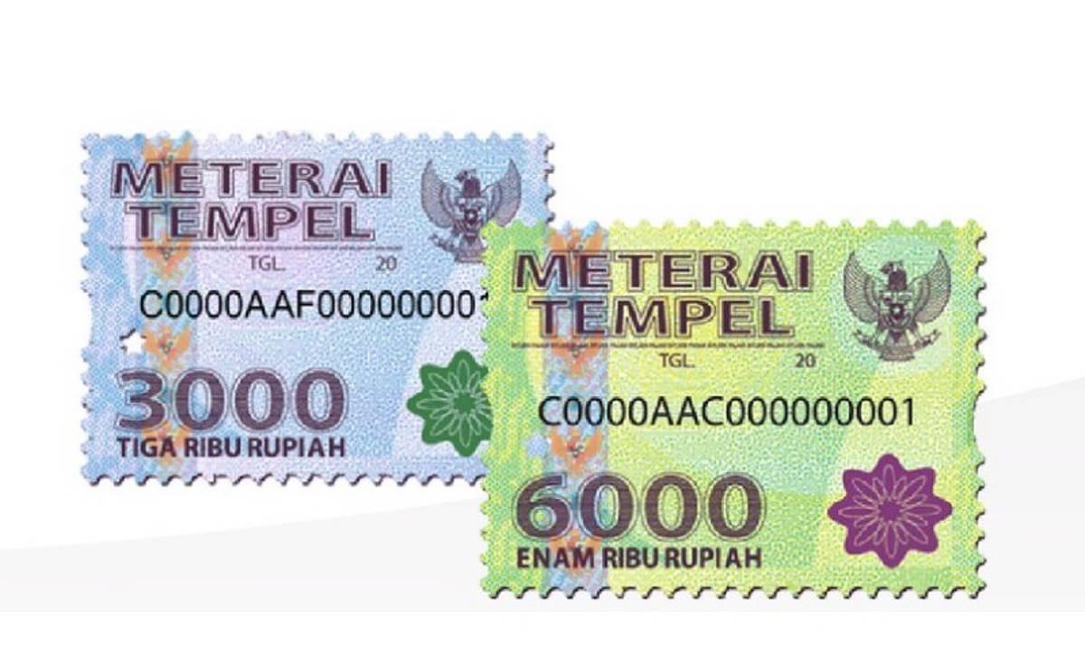 Penyederhanaan Tarif Meterai, Pemerintah Bakal Hapus Meterai Rp3000 dan Rp6000