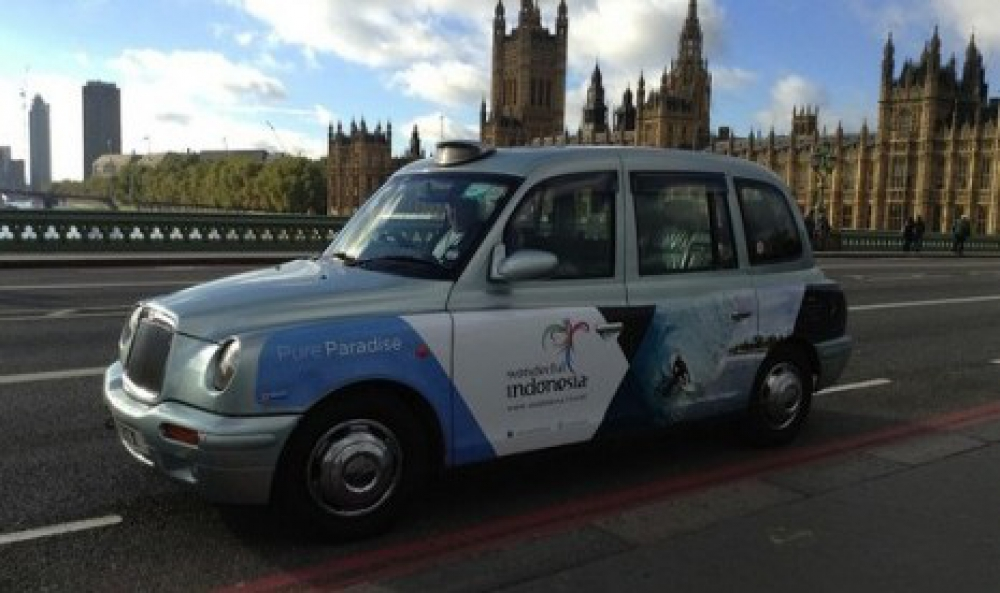 Pampang Wonderful Indonesia di Black Cab London