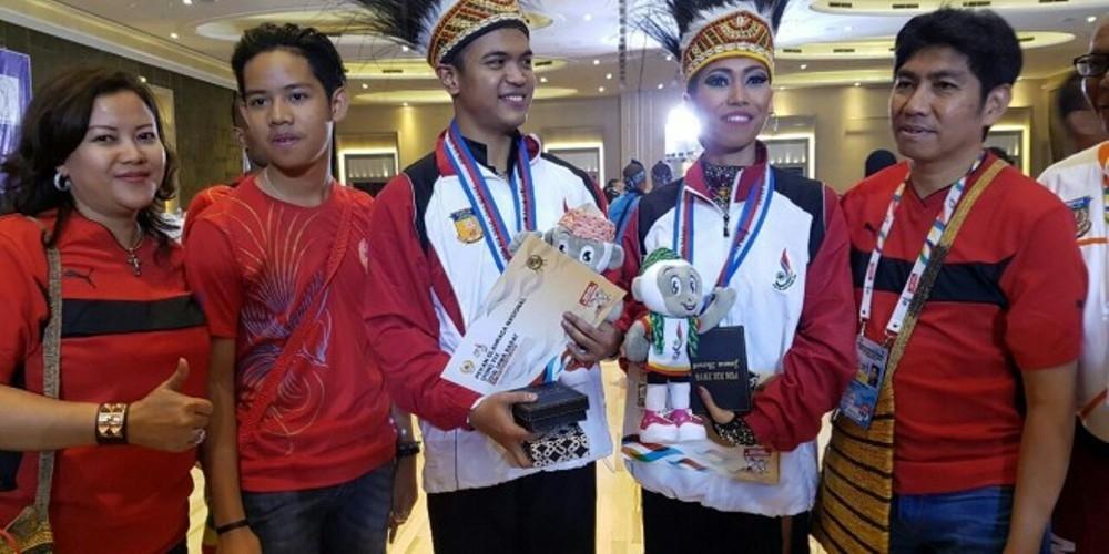 PON XIX JAWA BARAT 2016 : Duo Pasangan Atlet Dance Sport, Katrol Papua ke Urutan 6 Perolehan Medali Emas Sementara