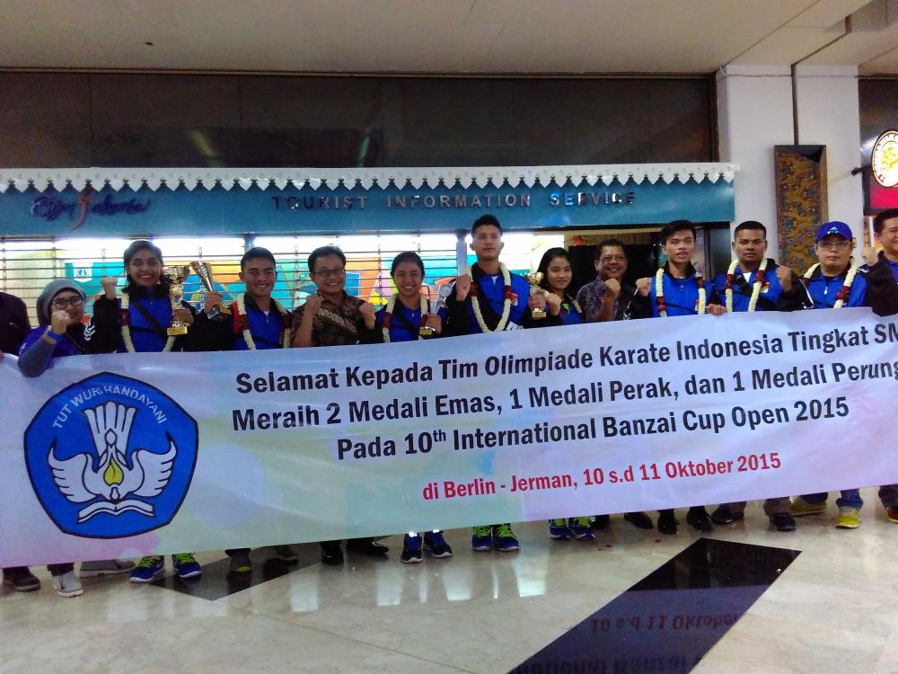 Pelajar Indonesia Raih 11 Medali di Ajang Karate Internasional