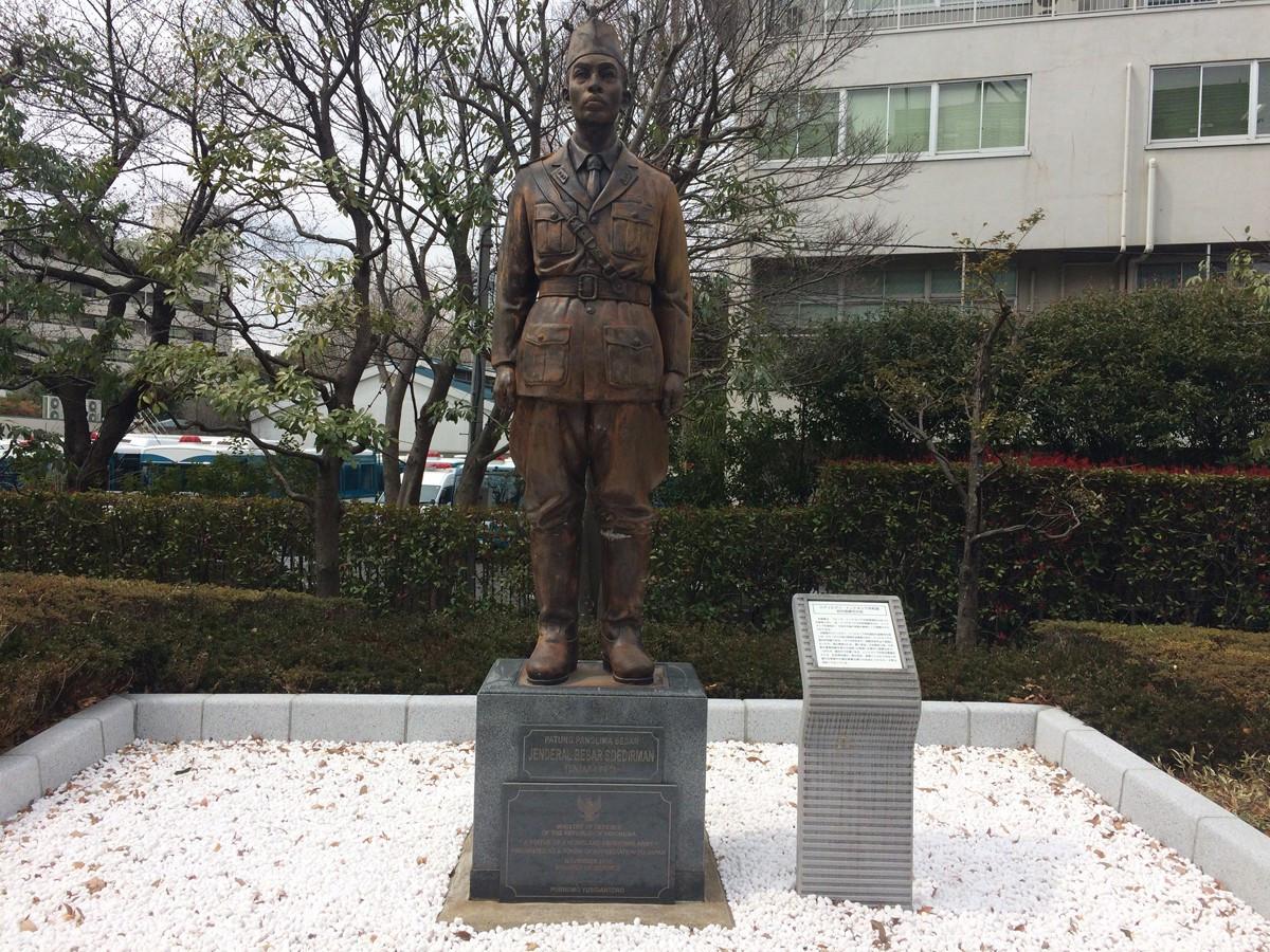 Di Balik Cerita Patung Jenderal Soedirman yang Berdiri di Jepang
