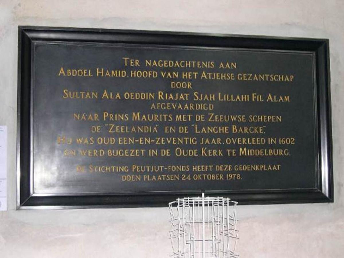 Prasasti Duta Besar Nusantara untuk Eropa Pertama di Belanda