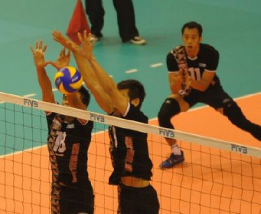 RI Defeats Qatar 3-0 at Asian Volley Ball Championship