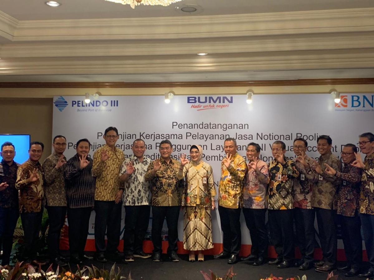 BNI Resmi Bekerja Sama Kelola Dana Operasional Pelindo III