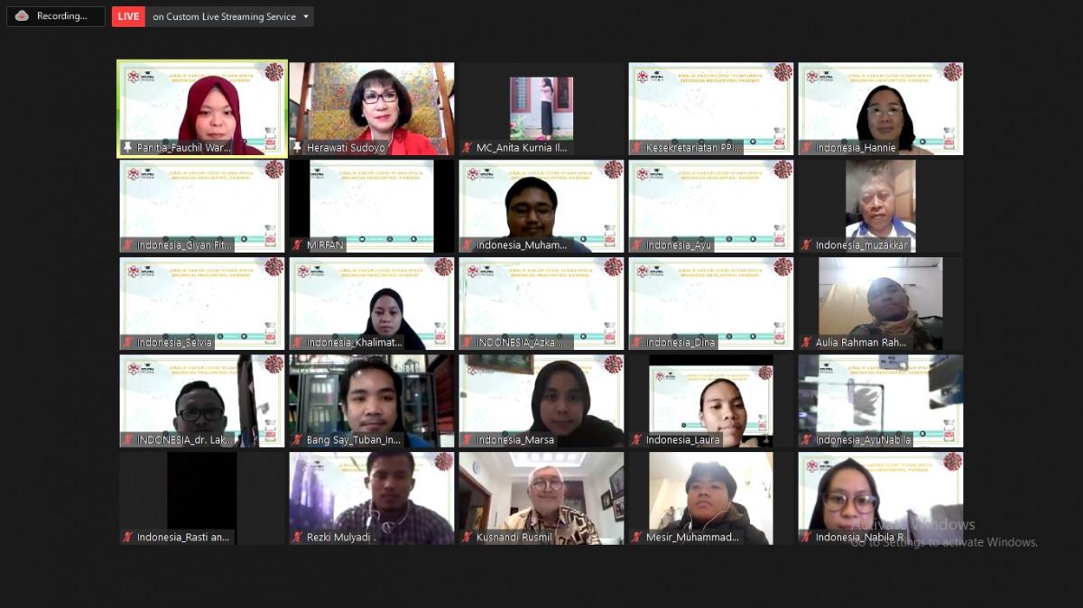 PPI Dunia Bersama Pakar Mengkaji Program Vaksinasi Untuk Melawan Covid-19 Di Indonesia