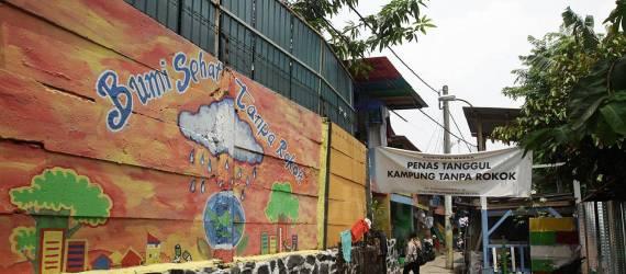 Memanjakan Mata dengan Wisata Kampung Penas Tanggul, Kampung Bebas Rokok Pertama di Jakarta