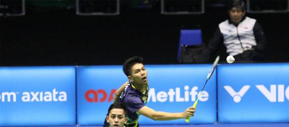Ganda Putra Indonesia Kalahkan India di Syed Modi International 2018