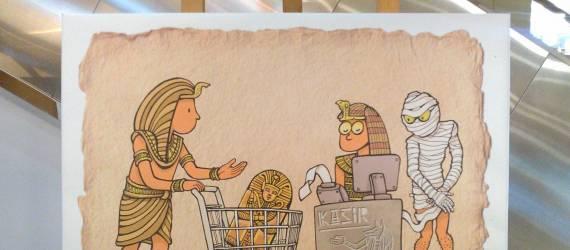 Ber-Wisatawa di Pameran Stand Up Cartoon