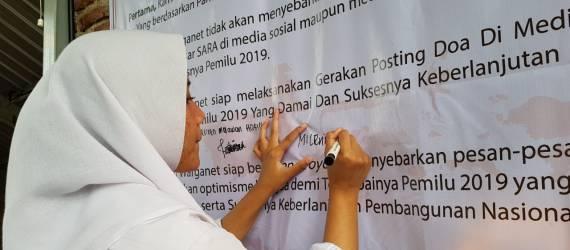 Netizen Lintas Agama Berdoa Untuk Melawan Berita Hoax Demi Sukseskan Pemilu 2019