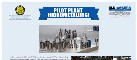 Puslitbang Tekmira Operasikan Pilot Plant Hidrometalurgi