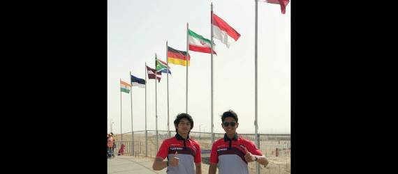 Bendera Indonesia Berkibar di Podium Kuwait International Motocross 2019