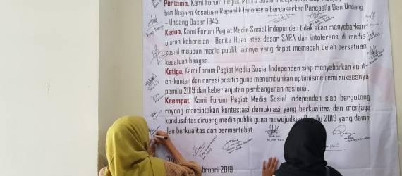 Semangat Vlogger Disabilitas Asal Bandung dalam Deklarasi Melawan Hoax