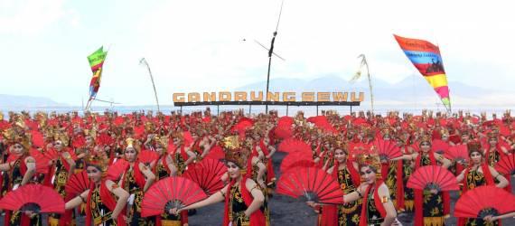 Festival Gandrung Sewu Digelar, Diikuti 1.286 Penari
