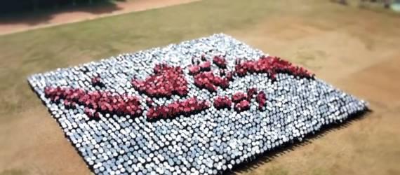 Maba IPB Sukses Pecahkan Rekor 3D Formasi Tingkat Dunia