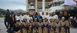 20 Pelajar SMAN 28 Jakarta memukau Masyarakat Turki dengan menampilkan tarian khas Aceh