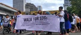 Puluhan Pemuda Indonesia Berkumpul di CFD Thamrin Sosialisasikan SDGs 2030