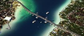 Dibangun Sejak 2011, Jembatan Merah Putih kini Terbentang Sudah