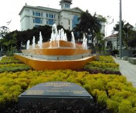 Taman Vanda, dibangun kembali dengan dana CSR dalam rangka KAA 2015