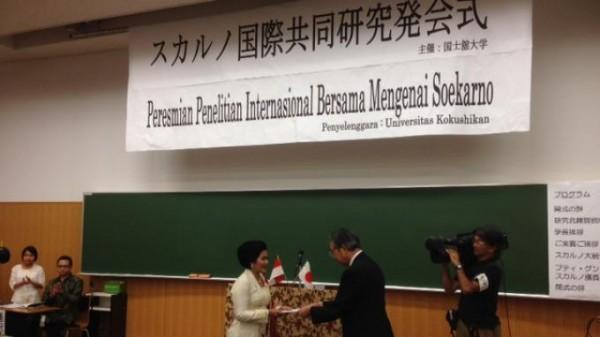 peresmian penelitian internasional bersama mengenai Soekarno