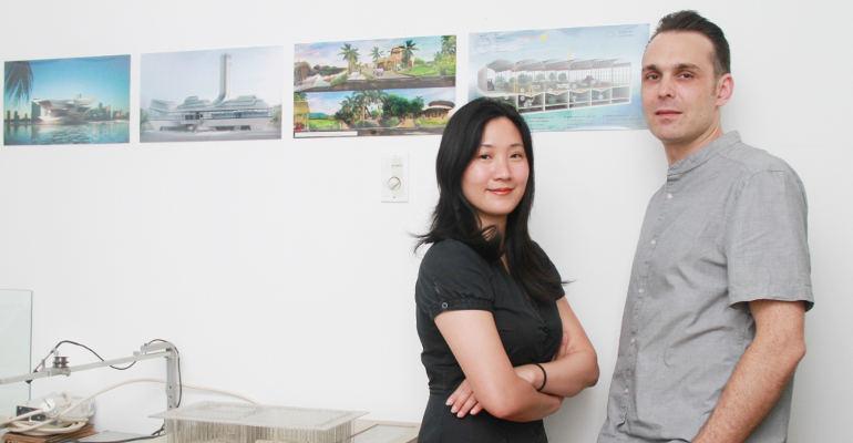 Daliana Suryawinata co-founder konsultan arsitek SHAU-Rotterdam dan Florian Heinzelmann Director SHAU, (Foto: swa.co.id)